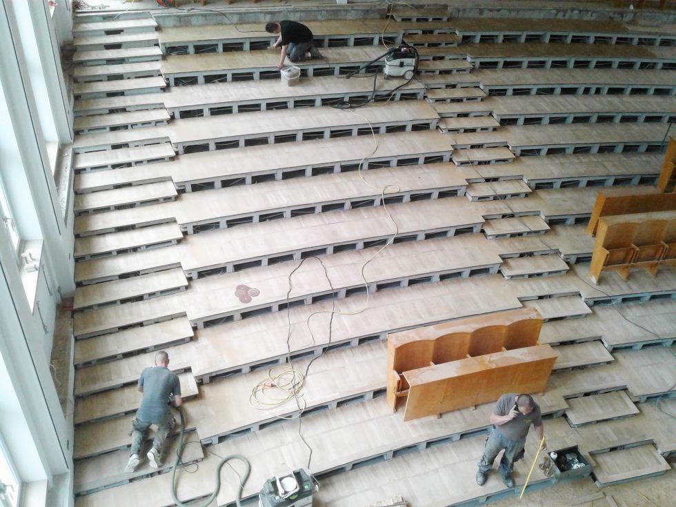 SHP-Bauprojekte.de-B-50-HS-GBM Baustelle: Aufarbeiten des Parketts