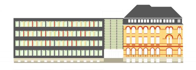 Energetische Sanierung Bürogebäude Fetscherstraße 72 - Bauplanung, Projektsteuerung und Bauprojektmanagement SHP Architekten, Dresden