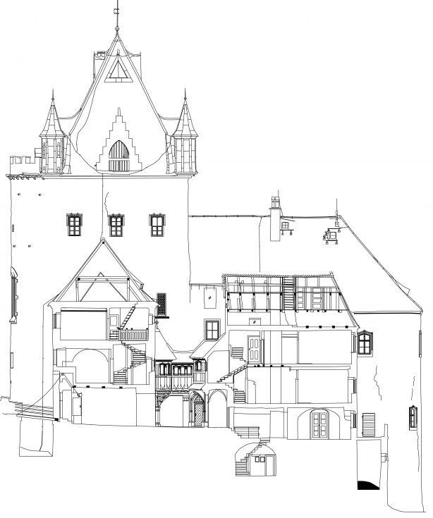 SHP.Bauprojekte.de Schloss Kuckuckstein-Vertikalschnitt