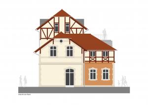 Wohnen am Brockhauspark - Sanierung Remise - Bauplanung, Projektsteuerung und Bauprojektmanagement SHP Architekten, Dresden